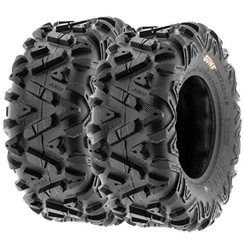 Set of 2 SunF A033 Power.I AT 25x12-9 ATV UTV Off-Road Tires All-Terrain, 6 Ply Tubeless