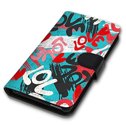 Wallet Book Style Flip Handy Tasche Case Schutz Hülle Schale Motiv Etui für Apple iPhone 5 / 5S - Design Flip MVD195