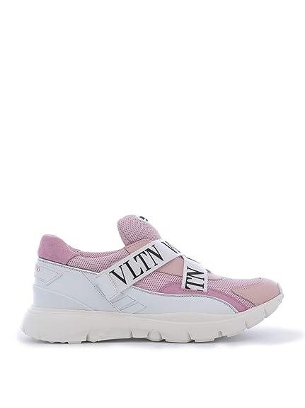 VALENTINO GARAVANI RW2S0I92PJLRY0 Mujer Rosa Poliéster Zapatillas Slip-on: Amazon.es: Zapatos y complementos