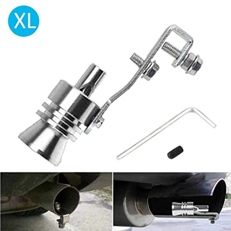 KKmoon Turbo Sound Whistle Exhaust Pipe Tailpipe Blow-off Valve Aluminum Size XL Black