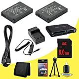 TWO Panasonic Lumix DMC-GX1 16 MP Micro 4/3 Compact System Camera DMW-BLD10 Lithium Ion Replacement Batteries w/External Rapid Charger + 8GB SDHC Memory Card + Mini HDMI Cable + Multi Card USB Reader + Memory Card Wallet + Deluxe Starter Kit DavisMAX Acce