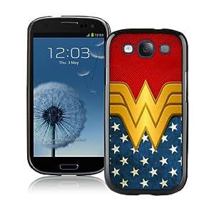 Wonder Women Black Durable Hard Shell Samsung Galaxy S3 I9300 Phone Case