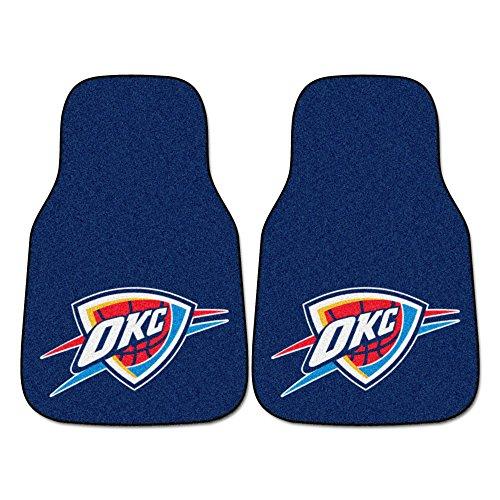 FANMATS NBA Oklahoma City Thunder Nylon Face Carpet Car Mat (Okc Rugs Area)