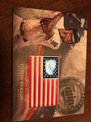 2018 Topps MLB Independence Day U.S. Flag Manufactured Patches #IDML-BB Byron Buxton Minnesota Twins USA Retail (Twin Blaster)