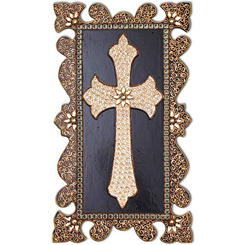 12 Piece Eyelets (Decorative Wall Crosses for Home Decor - 100% Handcrafted Wooden Wall Cross Hanging Painting - mj27jsg70ba)