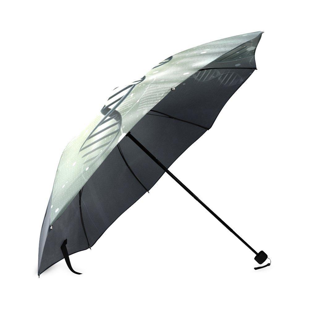 Kitchor Personalized DNA Double Helix Generic Foldable Umbrella Sun Rain Anti-UV