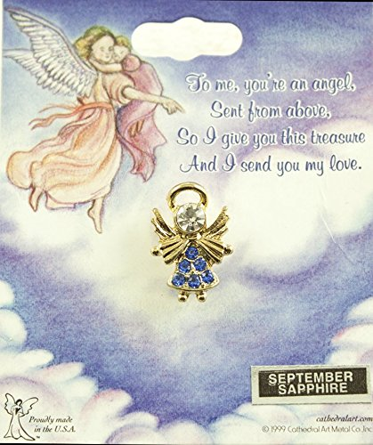 Cathedral Art AT8009 September Sapphire Birthstone Angel Pin (September Birthstone Angel Pin)