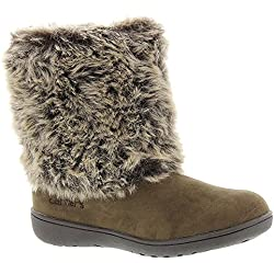 Carter's Fluffy2 Girls' Infant-Toddler Boot 10 M US Toddler Brown-Suede
