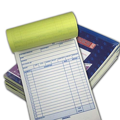 (Online Best Service 5 Pack Large Sales Order Book Receipt Invoice Duplicate Carbonless 50 Sets 5.5