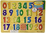 Melissa & Doug Numbers Sound Puzzle - Wooden  Puzzle With Sound Effects (21 pcs)