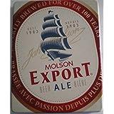 Molson Export Beer Ale Biere - (Box Metal Collection)