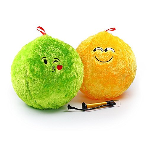 Gertie Basketball - Emoji Plush Ball Toy For Baby Toddler Kids, Sports Playground Bouncy Puff Ball Cushion Pillow, Educational Toys, Indoor Outdoor Activities, Party Favor Decoration Included Air Pump – 3 PCs