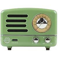 Muzen M-OTR Metal Green Portable Wireless FM Radio and Bluetooth Speaker, Mint Green