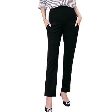 3a136375e8c BOZEVON Fashion Women s Maternity Pants Full Length Cotton Leggings  Comfortable Waist Adjustable