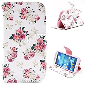 ANGELLA-M For Samsung Galaxy S4 i9500 Case , Flip Synthetic Leather Magnetic Wallet Case [Stand Feature] with Credit Card Slots [Fashion Cool Eye]