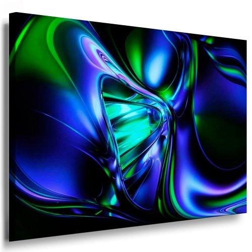 Kunstdruck Abstrakte 3D Grafik / Bild 100x70cm / Leinwandbild fertig auf Keilrahmen / Leinwandbilder, Wandbilder, Poster, Pop Art Gemälde, Kunst - Deko Bilder