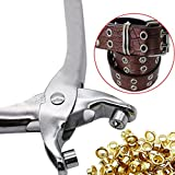 4 pics 1 od - E-SCENERY 30pc 4mm Brass Eyelets and Setting Grommet Punch Pliers Kit For Shoes Belts Bags Leather