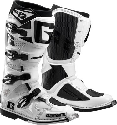 004 White Rubber - Gaerne SG-12 Boots, Distinct Name: White, Gender: Mens/Unisex, Size: 11, Primary Color: White 2174-004-011