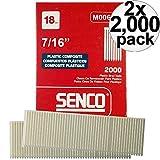 Senco M006100 2000pk 7/16'' Leg 18 Gauge Plastic Composite Brad Nail 2 x 2-Pack