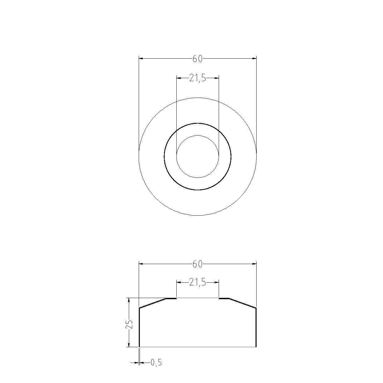 acquastilla 101005/roset/ón abombada a caja para grifo