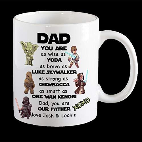 Personalised Star Wars Father's Day Mug, Star Wars Dad Mug, Darth Vader, Yoda. - Coffee Mug Gift Coffee Mug 11OZ Coffee Mug