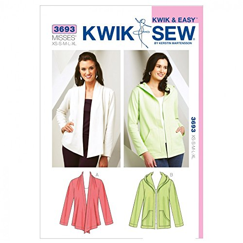 Kwik Sew Ladies Sewing Pattern 3693 Casual Jackets by Kwik Sew