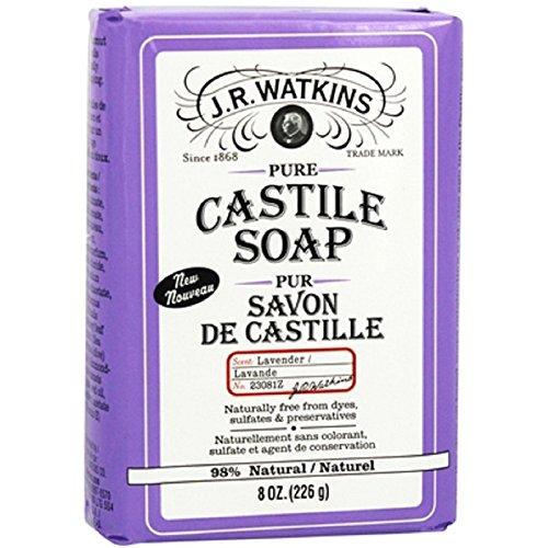 J.R. Watkins Pure Castile Bar Soap, Lavender, 8 Ounce ()