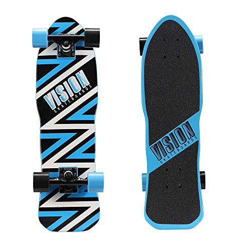 26 in. Mini Cruiser Skateboard in Ripper Style Blue Graphic (Palace Skateboards Complete)