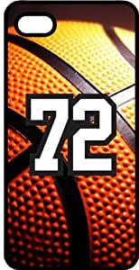 Basketball Sports Fan Player Number 72 Black Plastic Decorative iPhone 6 PLUS Case