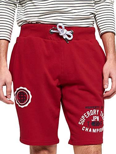 Superdry Shorts Herren Track & Field LITE Short Academy Red