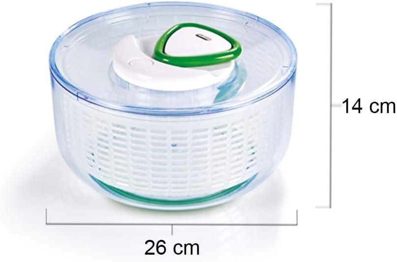Zyliss Easy Spin/ /Escurridor para Lechuga , Verde, Grande, pl/ástico, Blanco, 21.5x21.5x13 cm