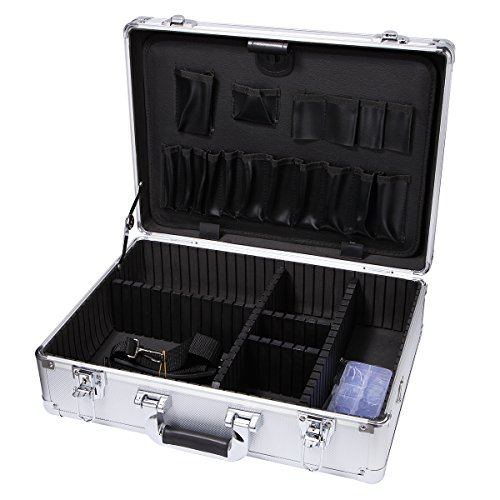 17' Aluminum Parts (Small Aluminum Hard Case Briefcase Silver Carrying Case Flight Cases Portable Equiment Tool Case Box)