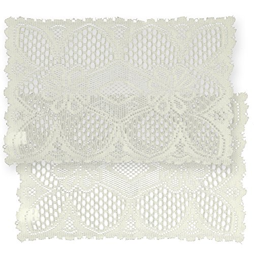 Home-X Rectangular Lace Doilies.