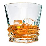 Diy Family Store® Whiskey Glasses Set of 6,Czech Crystal Glass,Glass Cocktail Liquor or Bourbon Tumblers,Lead free,Unique, Dishwasher Safe,10.2oz