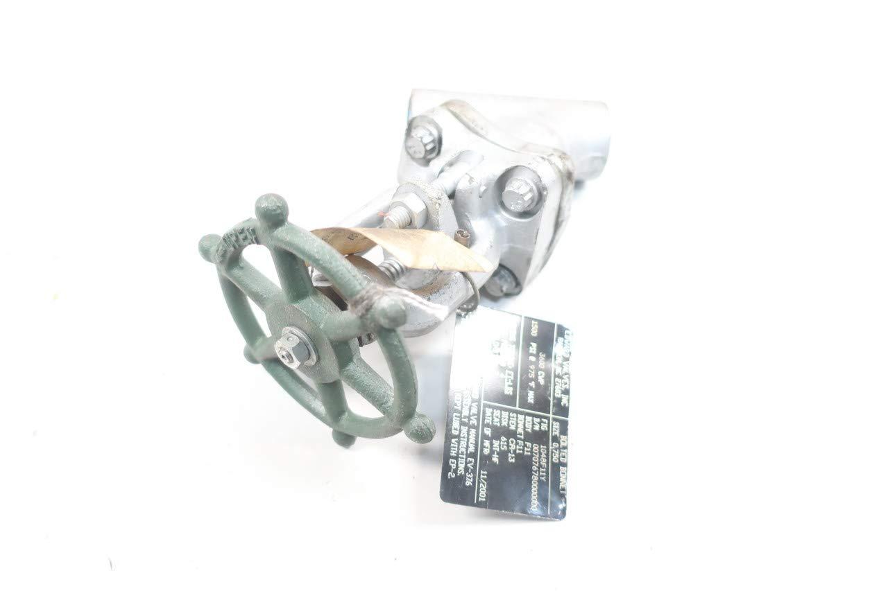 EDWARD VALVE 1048F11Y Steel Socket Weld 3//4IN Globe Valve