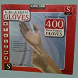 Kirkland Signature Nitrile Exam 400 Multi-Purpose Gloves Small