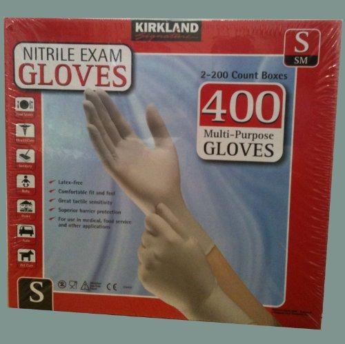 Kirkland Signature Nitrile Exam 400 Multi-Purpose Gloves ...