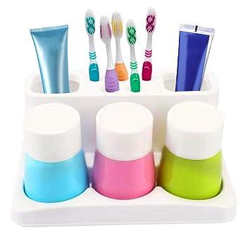 Amazon.com: enjoypro soporte para cepillos de dientes pasta ...