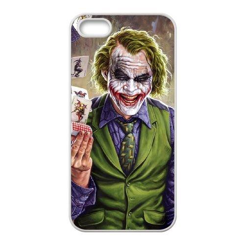 Batman Joker coque iPhone 5 5S Housse Blanc téléphone portable couverture de cas coque EBDOBCKCO09275