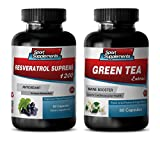 Product review for fat loss clean - RESVERATROL - GREEN TEA - COMBO - resveratrol omega 3 - (2 Bottles Combo)
