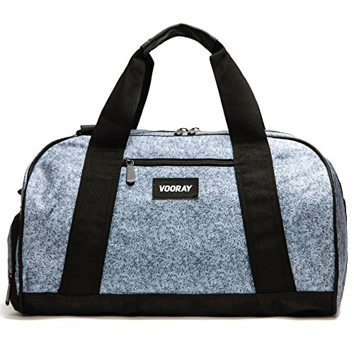 Vooray Burner 16 Compact Gym Bag With Shoe Pocket Heather Gray