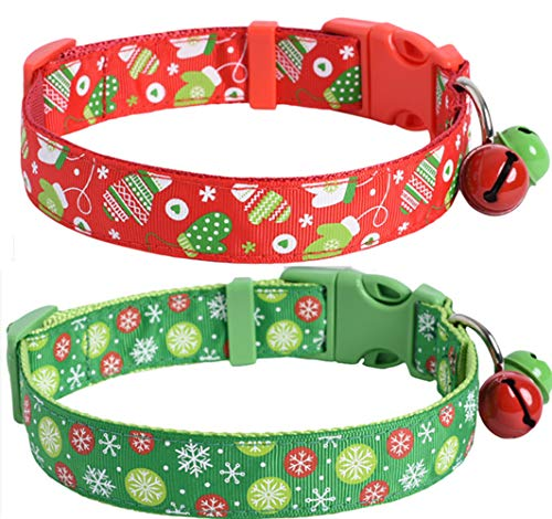 JPB Christmas Dog Collar - Pack of 2 for Medium and Large Dogs