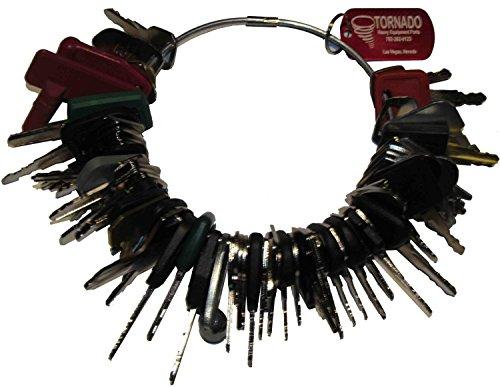 Construction Equipment Master Keys Set-Ignition Key Ring for Heavy Machines, 67 Key Set