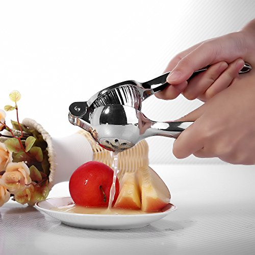 Gelindo Single Press Lemon Squeezer - Heavy Duty - Easy To Use - Large Bowl, Silver by Gelindo (Image #7)