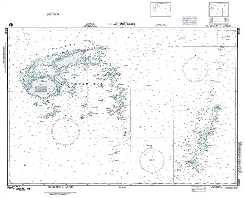 Paradise Cay Publications NGA Chart 83500WP: Fiji & Tonga Islands So Pacific Ocean; 37.5 X 49; WATERPROOF