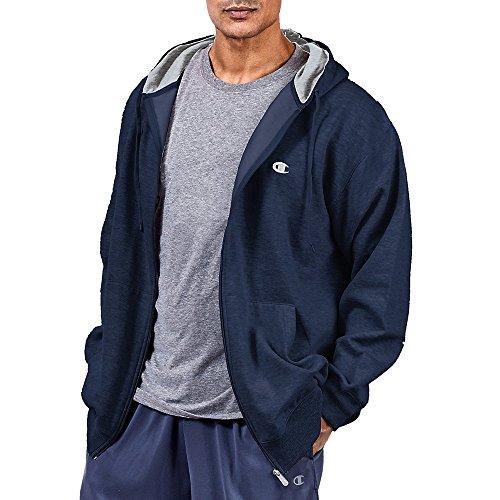 - Champion Men's Big-Tall Full Zip Fleece Hoodie, Navy, 3X