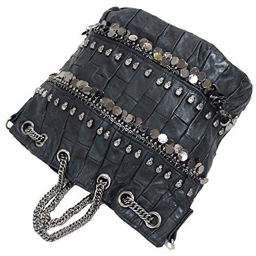 calavera para Bolso bolsa de diamantes mujer negro hombro de Negro Negro con dggqYSx