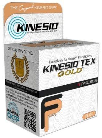 Kinesio Tex Gold Wave, Latex-Free, Water-Resistant - Beige 6 Pack, 2'' X 16.4' #15024 by Kinesio