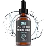 M3 Naturals Hyaluronic Acid Serum with Vitamin C for Face & Eyes Topical Facial Serum Natural Skin Care Anti Aging Anti Wrinkle Acne Treatment Plumps Hydrates Fine Lines Vitamin E 1 FL OZ