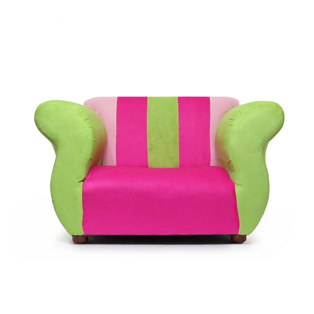 KEET Fancy Kid's Chair, Pink/Green